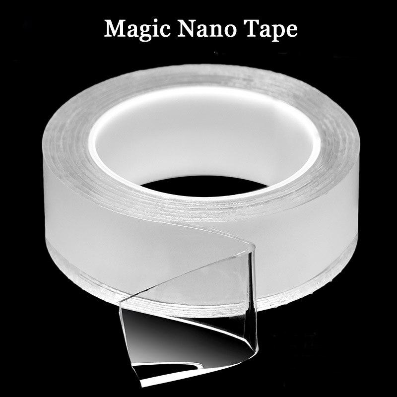 Гелевая Силиконовая Водонепроницаемая лента 3 м, двусторонняя многоразовая прозрачная Нескользящая прочная клейкая нано-волшебная лента