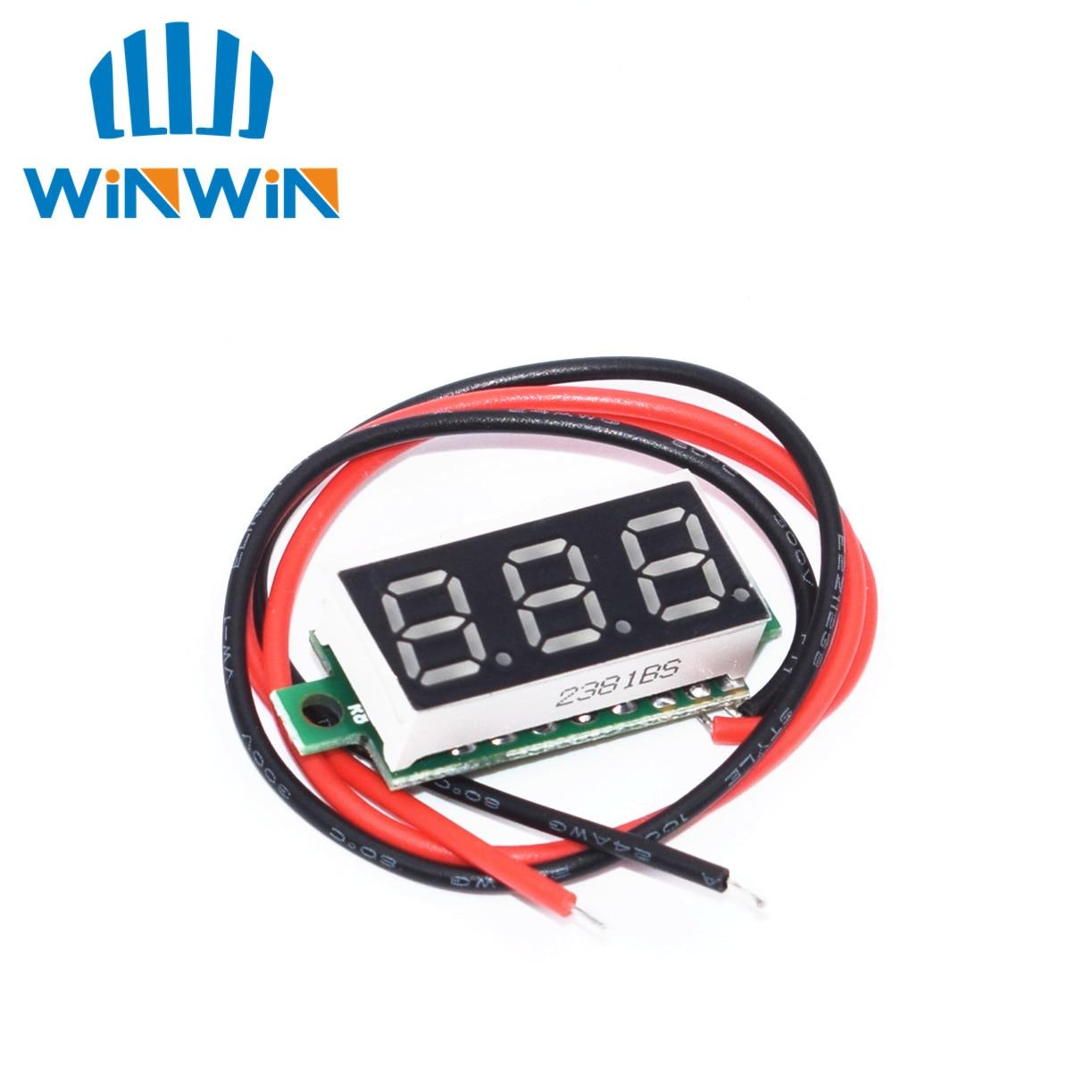 0,28 дюймов 2,5 в-40 в Мини цифровой вольтметр измеритель напряжения красный/синий/желтый/зеленый светодиодный экран электронные Запчасти Аксессуары