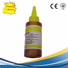 Kit dencre de colorant de recharge jaune universel pour imprimantes utilisées pour cartouche rechargeable et Ciss