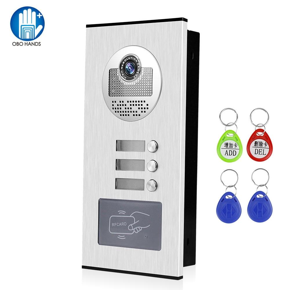 700TVL المنزل الفيديو نظام اتصال داخلي RFID الوصول في الهواء الطلق كاميرا تليفون باب بفيديو الجرس IR للرؤية الليلية ل 2 3 4 6 شقق