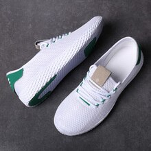 Été léger respirant hommes chaussures décontractées solide blanc pas cher chaussures de Sport Air maille basse coupe baskets hommes formateurs Zapatillas