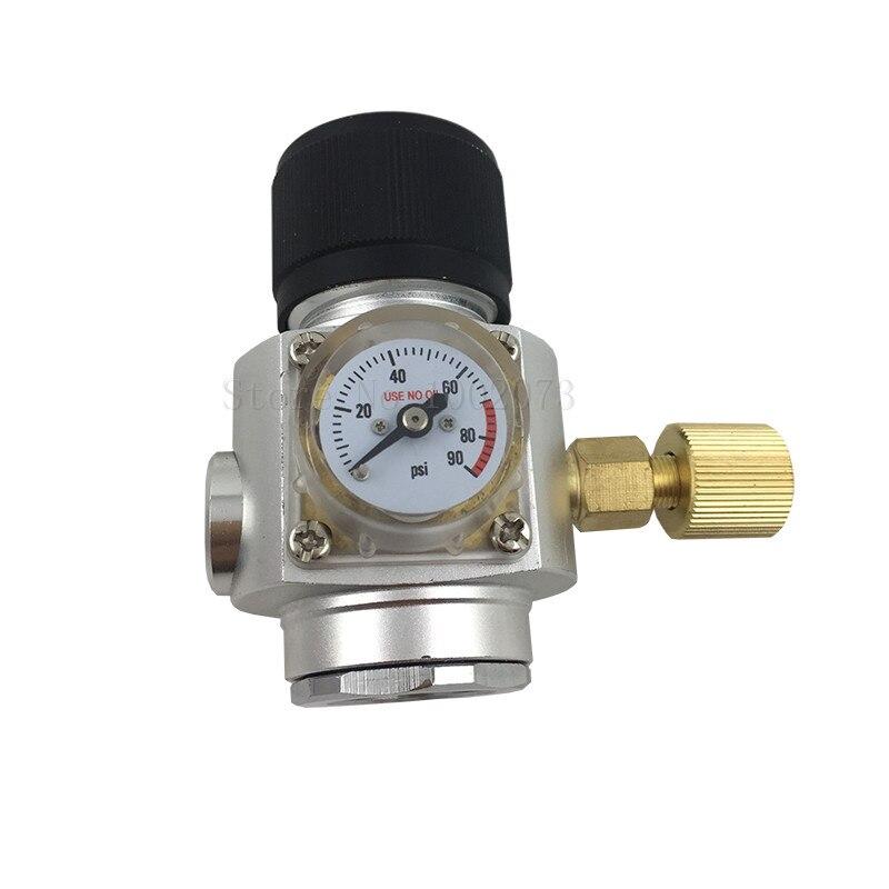 "Homebrew CO2 мини газовый регулятор 0 ~ 90Psi с 3/8 ""резьбой для пивоварения пива Keg"