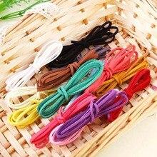 18 couleurs disponibles 10 mètres 3x1.5mm plat Faux daim coréen velours cuir cordon corde corde dentelle perles fil bijoux à bricoler soi-même trouver