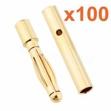 Vente en gros 100 paires 2mm or balle prise banane connecteur RC batterie remplacement ESC