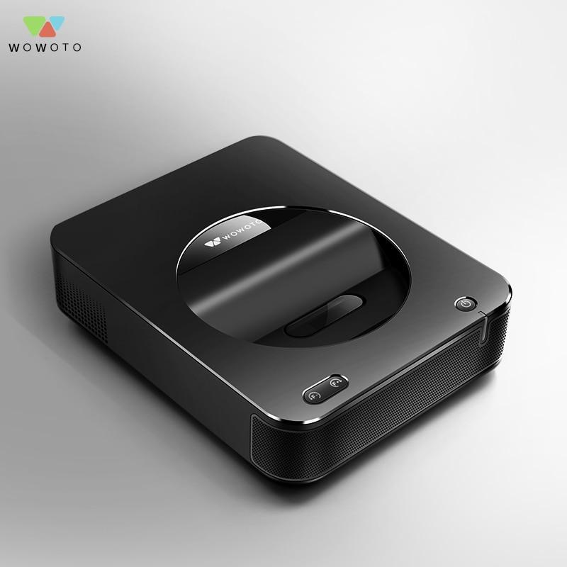 Proyector wowomoto ultracorto Throw proyección Full HD 1080p 3600 lúmenes con bolsa de almacenamiento portátil Mini Pico Proyector S6a