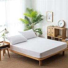 Housse de protection de lit en tissu éponge   Couleur unie, couverture de lit, imperméable, drap-housse, matelas durine, housse de protection antidérapante