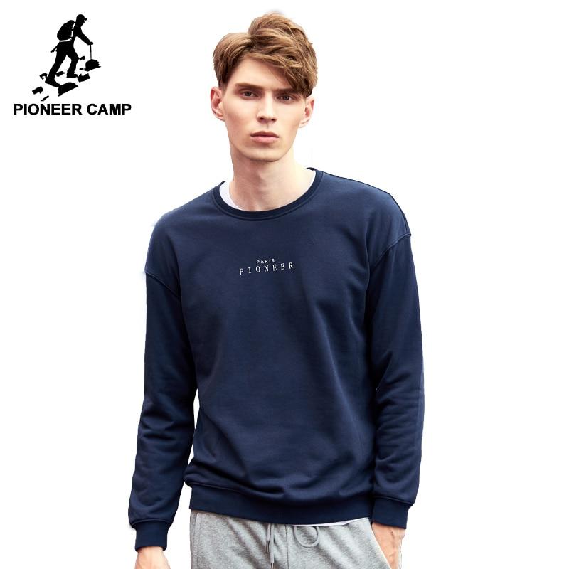 Pioneer Camp 2018 New Arrival hoodies men brand clothing High quality printed hoodies casual fashion male hoodie sweatshirt men