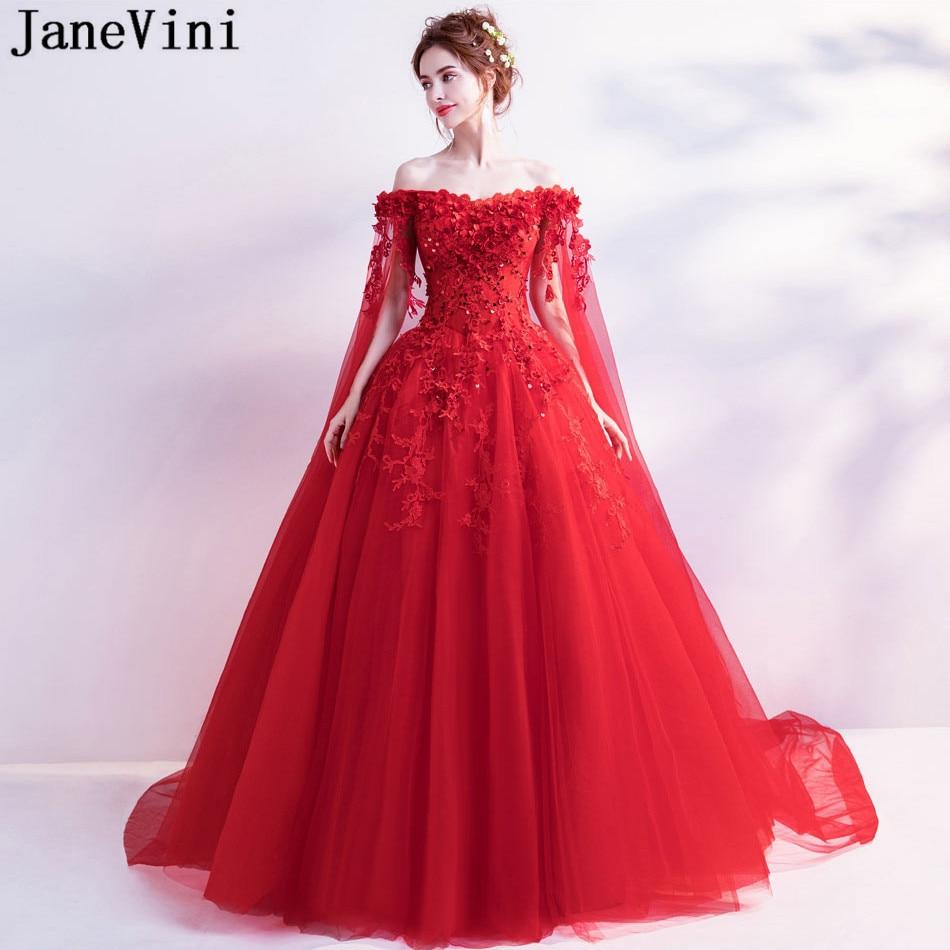 JaneVini Vestidos largos de noche árabes con capa con cuentas 3d flores...