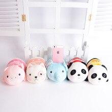 Metoo Kawaii siège de téléphone Mobile en peluche dessin animé bébé jouets enfants en peluche Panda cochon chat jouets doux mignon support de support de téléphone