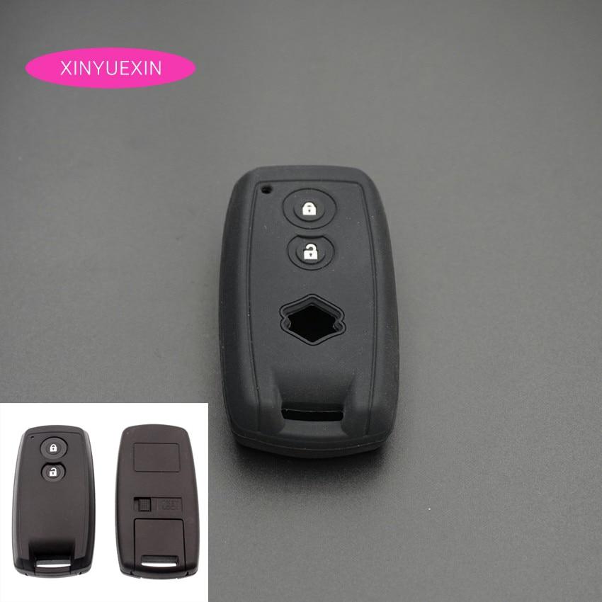 Xinyuexin силиконовый резиновый чехол для автомобильного ключа FOB чехол для SUZUKI Swift Sport SX4 SCORSS Grand Vitara 2 кнопки Smart Key автомобильный Стайлинг