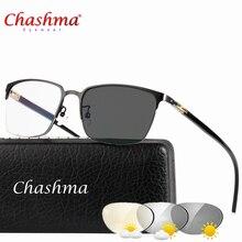 Lunettes de soleil en alliage de titane   Transition, lunettes de lecture photochromique pour hommes, hyperopie presbyte avec dioptes presbytes