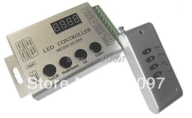 DC12V 24V Aluminio RF RGB LED Controlador WS2811 chip 4-teclas conexión en cascada y conexión del bus