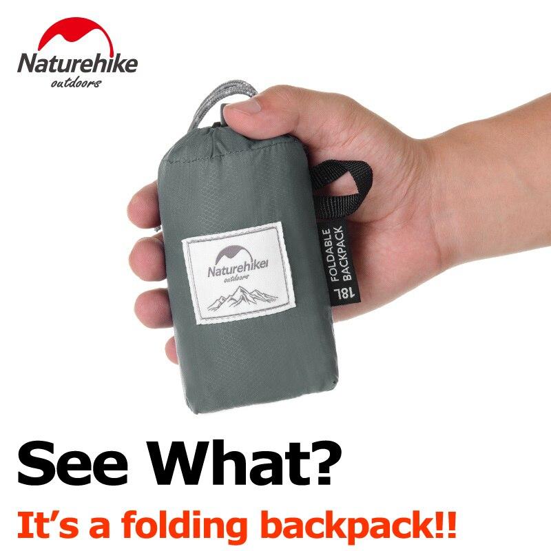Mochila plegable NatureHike, mochila ultraligera empaquetable, mochila de senderismo, mochila práctica impermeable para acampar al aire libre