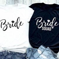 Bride Diamond Letter Printed T-Shirt Bride Diamond Squad Coupled Tops Feminist Gift Cotton Fashion Tee Aesthetic Graphic Shirts