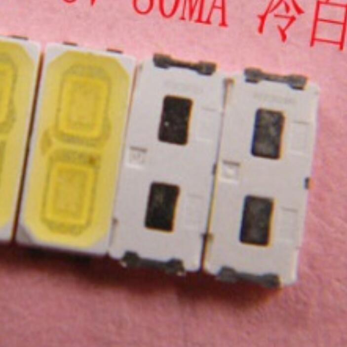 200 Uds. Para retroiluminación LED LG Innotek 1W 7030 6V aplicación de TV blanca fría smd 7030 LED blanco frío 100-110lm 7,0*3,0*0,8mm