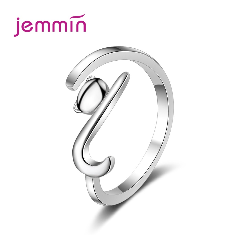 Hot Sale Simple Cute Cat Design 2020 Women Metal Adjustable Rings Knuckle Finger Ring Birthday Gift For Girls