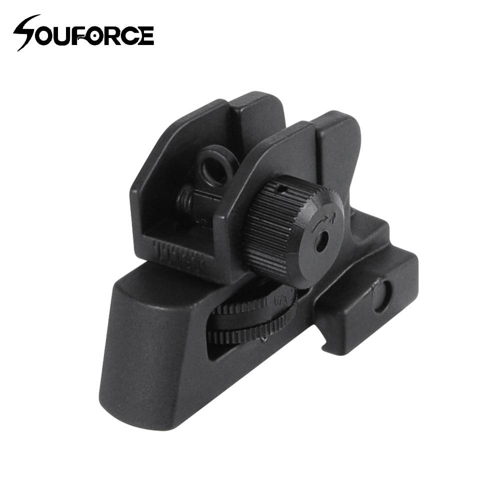 US desmontable AR de doble apertura A2 vista trasera se adapta a 20mm de montaje todas las tapas planas de caza pistola Rifle accesorios de Mira