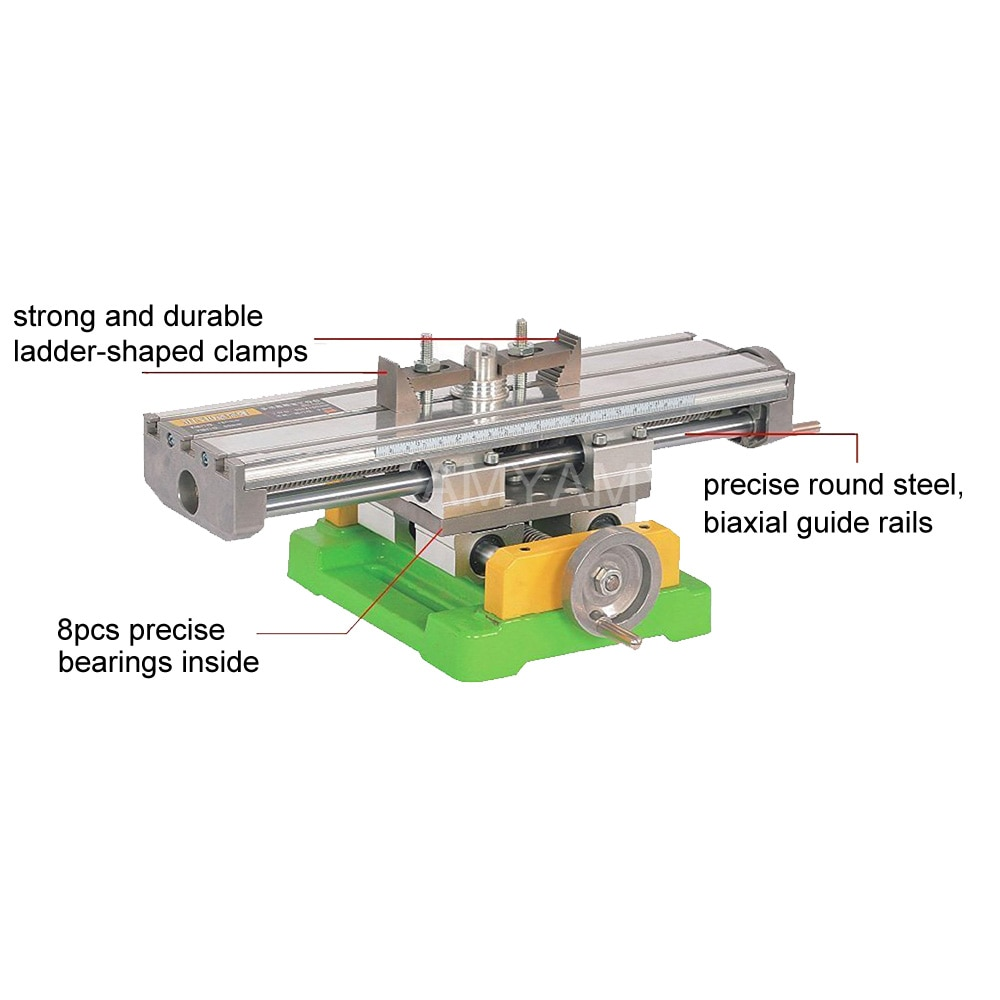 AMYAMY Compound Slide bench Worktable Milling Cross Table Mill Machine Drilling bench For Bench Drill Adjustme X-Y enlarge