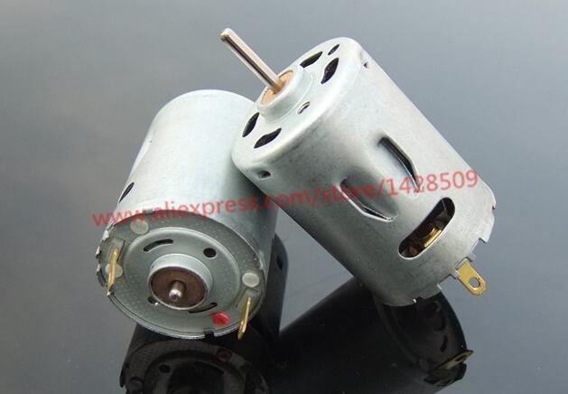 1 Uds metálica de alta calidad Micro Motor 12 V-24 V 385 Mini DC Motor magnético fuerte-Motor de velocidad torque poderoso de soplador de aire