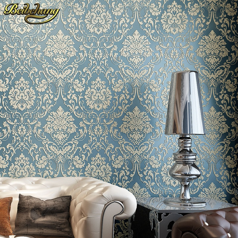 beibehang pastoral flowers wallpaper for walls 3d wall paper for wall 3 d classic embossed tv room bedroom wall paper home decor beibehang Luxury Damask wallpaper for walls 3 d Background Wall Wallpaper Classic Wall Paper Home Decor For Living Room flooring