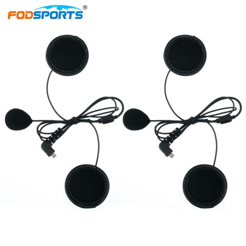 2 шт. Fodsports BT-S2 BT-S3 мягкий микрофон-трубка наушники наушник для мотоцикла Bluetooth гарнитура для шлема домофон