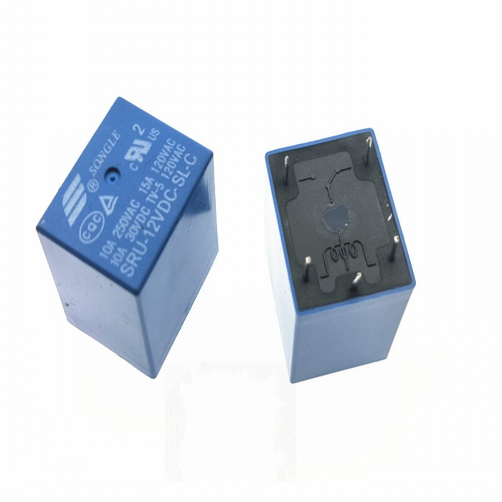 50 unids/lote Relés de Potencia SRU-05VDC-SL-C SRU-12VDC-SL-C SRU-24VDC-SL-C 5V 12V 24V T70 10A 5PIN