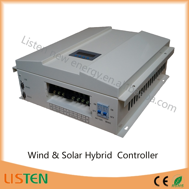 360VDC high voltage wind turbine 48V system 2KW wind 0.6kw solar Boost Wind Solar Hybrid Charge Controller