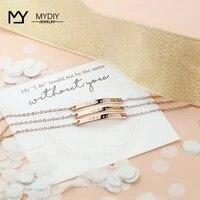 personalize bar bracelet gold staimless steel nameplate jewelry bracelet couple bracelets women gift customized bracelet