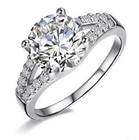 promise fine 2ct elegant solid white gold never fade quality diamond ring for women engagement ring romantic jewelry