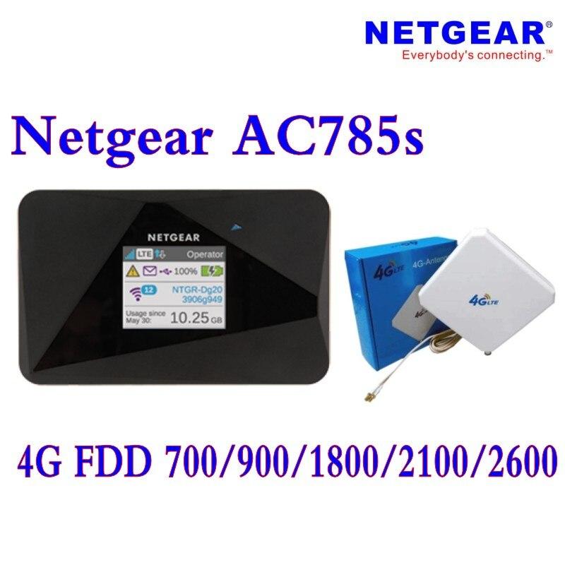 Desbloqueado Netgear AirCard 785 S (más 4g antena) LTE Mobile Hotspot Wi-Fi de doble banda 2,4 GHz/5 GHz 4G FDD/700/900/1800/ 2100/2600 MHZ