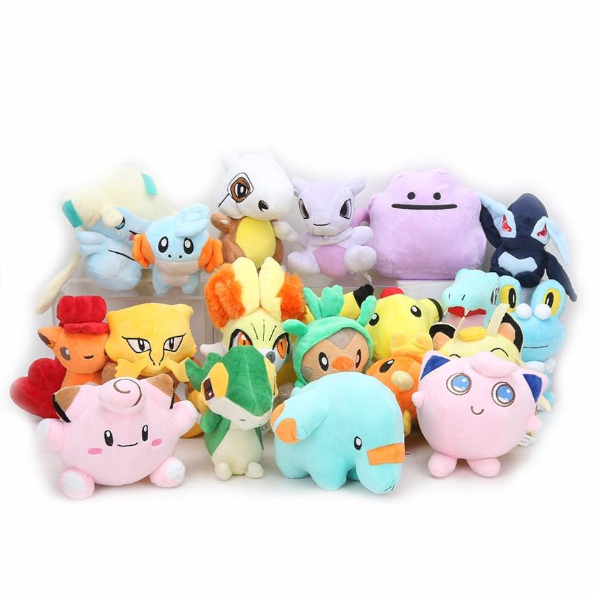 11-18 см Evee плюшевые игрушки snorlax Jigglypuff Vulpix Lucario Charizard Mewtwo Мягкие плюшевые куклы
