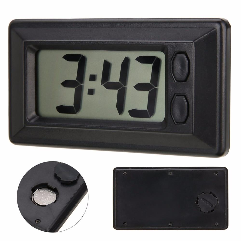 LCD Digital Clock Car Dashboard Clock Desk Date Time Ultra Thin Digital Calendar Clock for Car Motorcycle Accessory