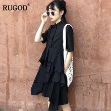 RUGOD 2019 Summer Fashion Elegant Irregular Cake Skirt Women Chic High Quality Cotton female lady women jumpsuit romper playsuit