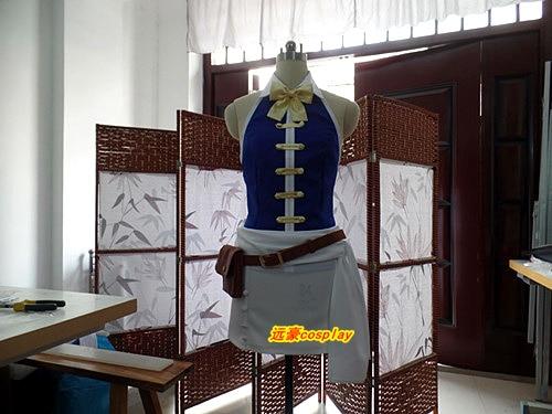 Anime cauda de fadas lucy heartfilia cosplay traje sem mangas colete saia blet saco holloeen carnaval conjunto completo