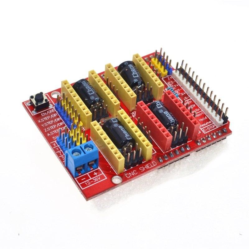 Nueva máquina de grabado cnc shield v3/impresora 3D/placa de expansión del controlador A4988 para Arduino