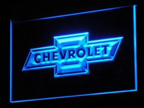 D033 CHEVROLET LED Neon Sign con interruptor On/Off 20 + colores 5 tamaños para elegir