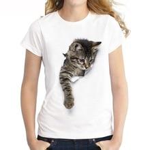 Charmed 3D chat imprimer décontracté Harajuku femmes T-Shirt été à manches courtes décontracté col rond pas cher vêtements chine haut Mode Femme qy *