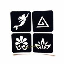 1PC 4 Design sirène henné tatouage pochoirs Lotus fleur imperméable faux tatouage modèle pour aérographe peinture Tatoo pâte