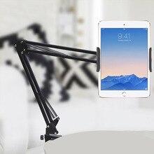 Support de tablette lit à bras Long/Support de pince de bureau pour iPad iPhone Huawei Amazon 6 à 11 pouces Support de tablette de téléphone