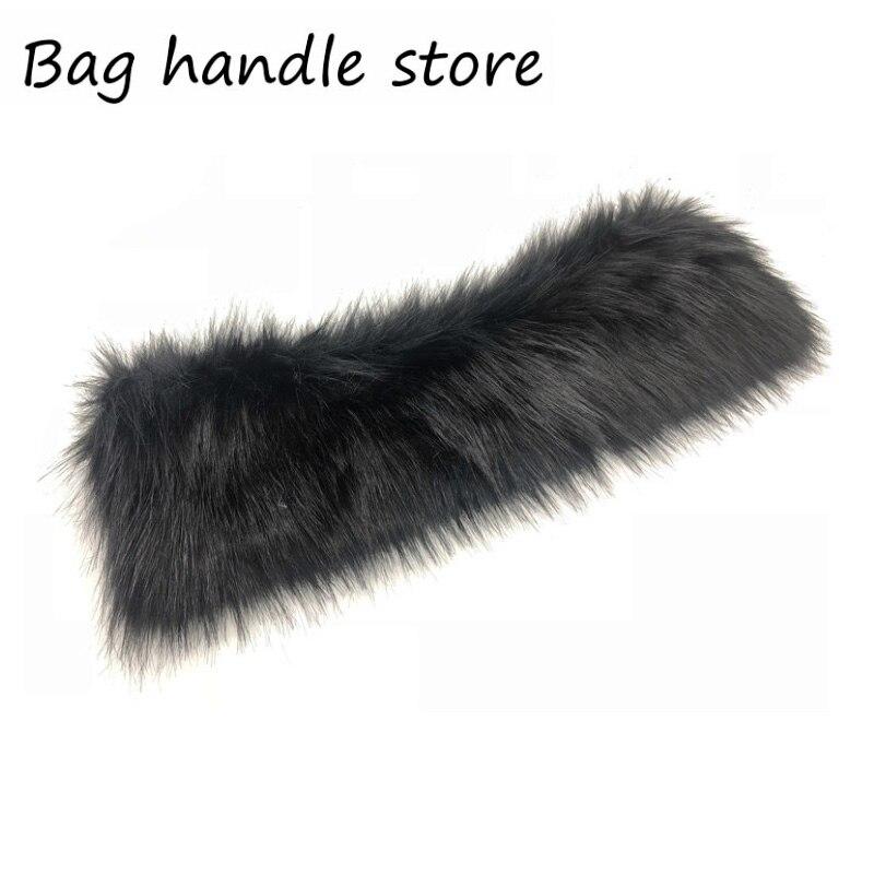 New  Colorful Women Classic Big  Plush Trim for o bag Thermal Plush Decoration Rabbit Fur Fit for Obag