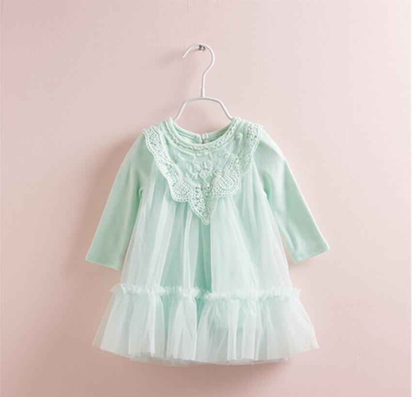 2020 Newborn girl dress princess  Baby Girls Clothing Ball Gown Infant Girl Dresses Lace Princess Party Prom Tulle Dress 0-2T newborn girl infant baby birthday wedding party dress ball gown princess lace up long sleeve front bow kids girl clothes