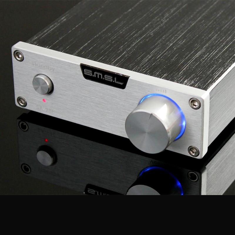 Nuevo y mejorado SMSL SA-98E 120 W * 2 TDA7498E con fuente de alimentación de audio Digital de Teatro en Casa amplificador