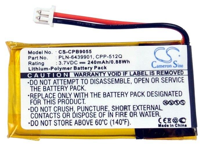 Bateria de cameron sino 240 mah para plantronics c65, cs351, cs361, cs50, cs510, cs520, cs55, cs65, hl10, savi 410/420/710/720, wh300, wh350