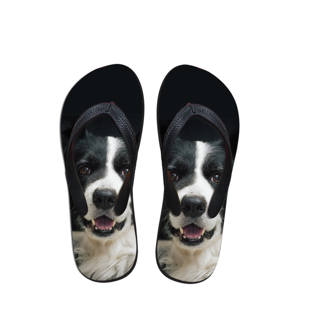 Chanclas de verano casuales personalizadas para hombre, Sandalias planas con estampado 3D de animales y perros, zapatos para hombre, sandalias de playa Flip Flop