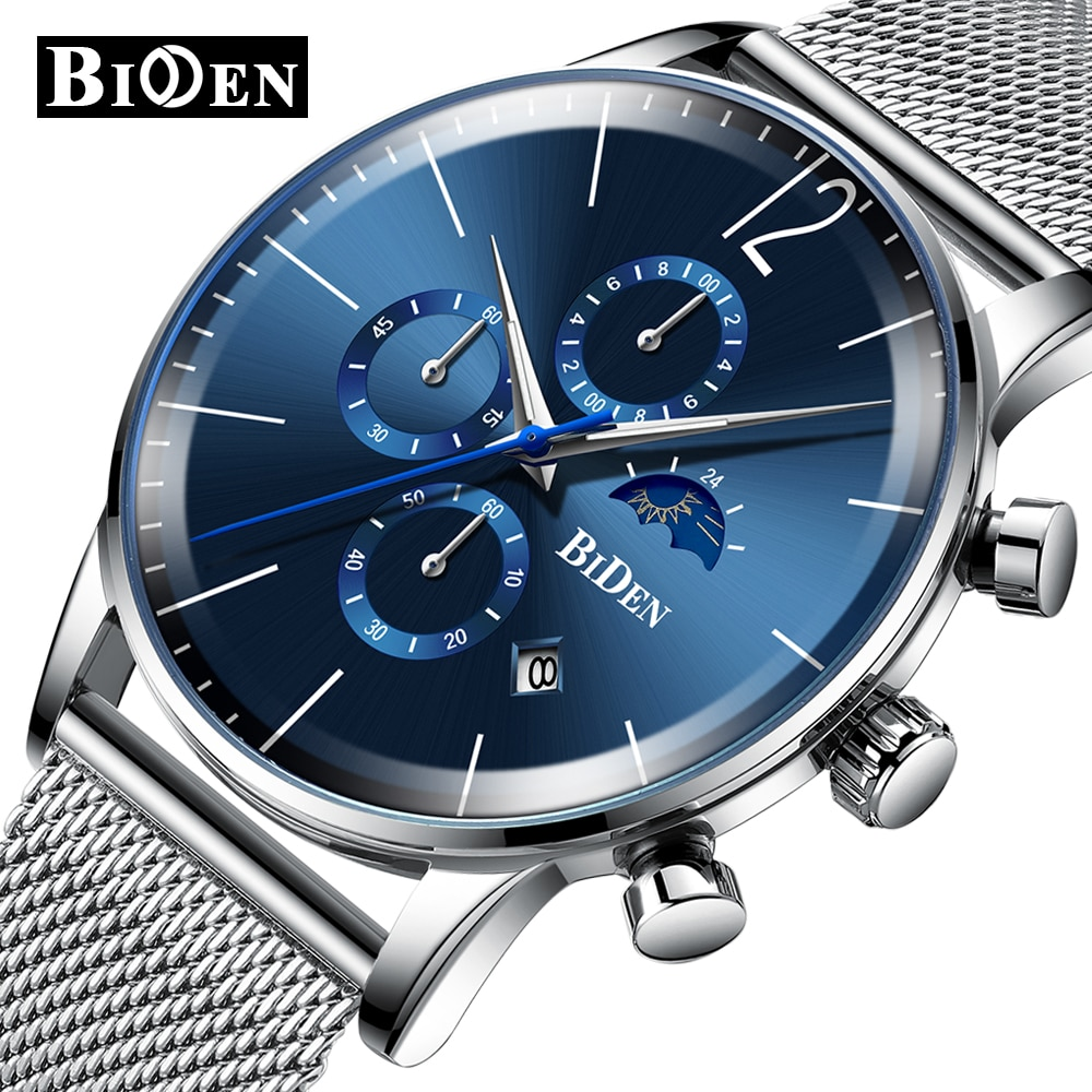 Relojes analógicos de cuarzo para hombre, de la mejor marca, reloj de negocios a la moda para hombre, reloj de pulsera resistente al agua de acero inoxidable, reloj Masculino