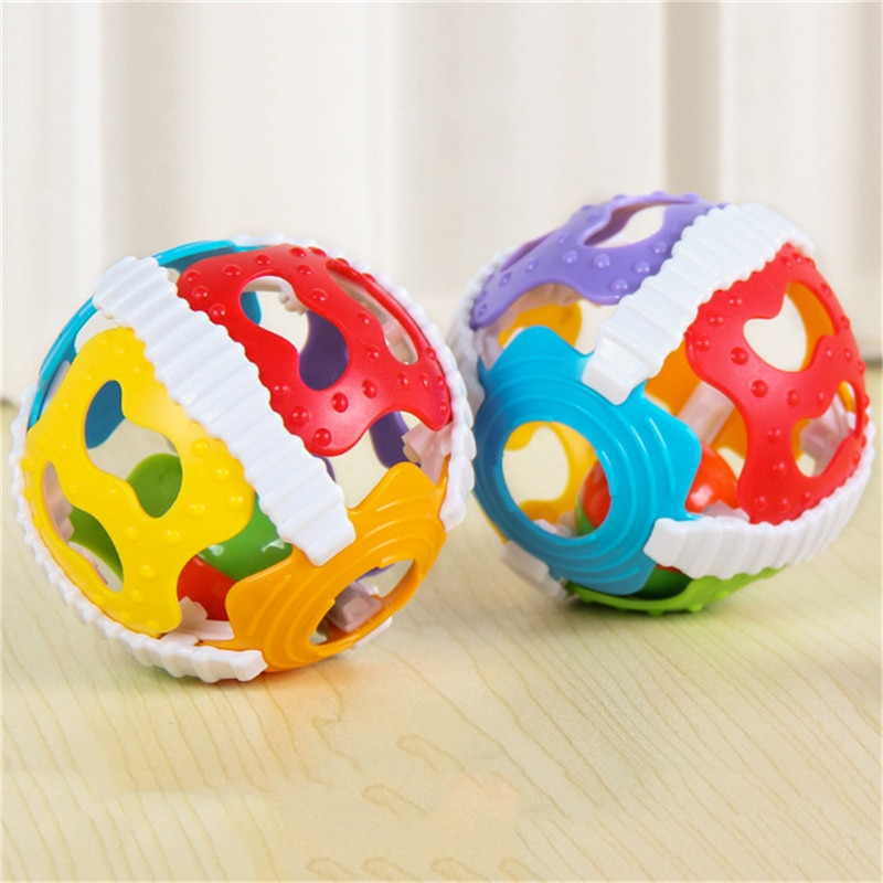 Baby Toy Fun Little Loud Bell Ball Rattles Develop Intelligence Activity Grasping Hand Rattle