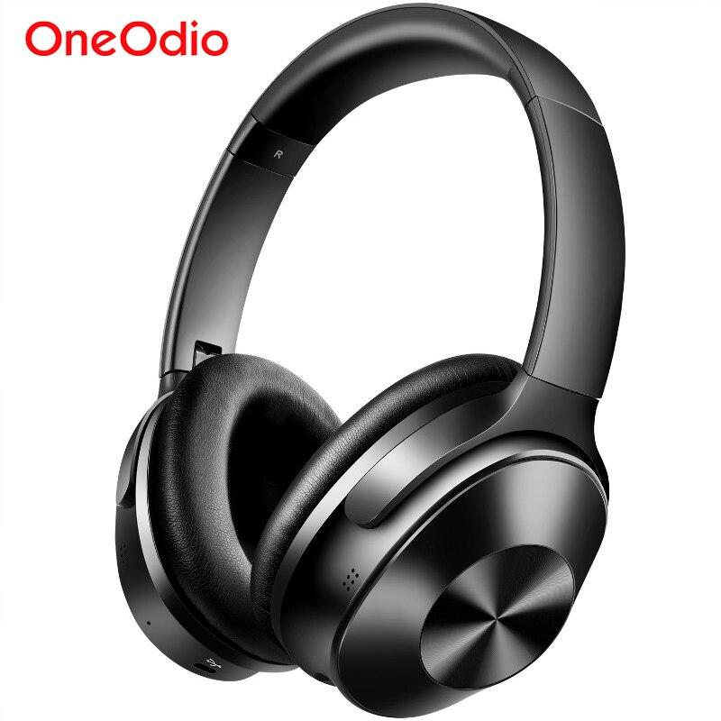 Oneodio A9 하이브리드 액티브 소음 차단 블루투스 헤드폰 (마이크 스테레오 포함) 이어폰 헤드셋 무선 헤드폰 (전화 TV 용)