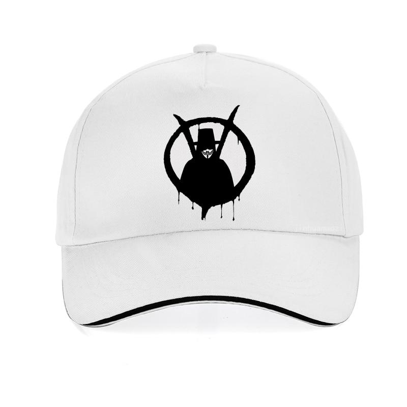 Бейсболка the film V для Vendetta, модная брендовая Кепка в стиле хип-хоп, мужская и женская регулируемая бейсболка