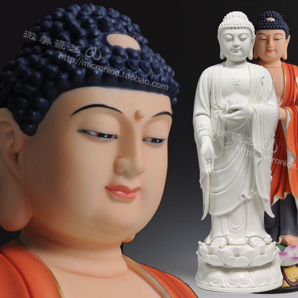 El elegante 17 pulgadas put espesor Efraín Amitabha parece haber Sam West Dehua cerámica Artesanías de Decoración de Buda
