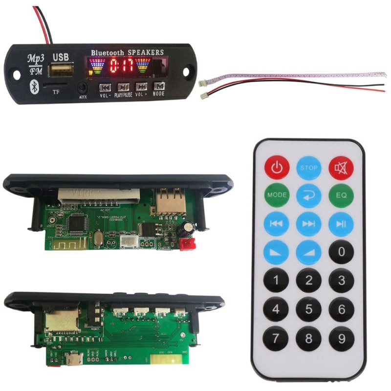 Bluetooth 5,0 MP3 WMA Decoder Board Audio Modul USB TF FM Radio Auto Musik MP3 Verlustfreie Bluetooth Modul Wireless
